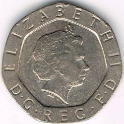 Mynt > 20pence, 1998-2008 - Storbritannia  - obverse