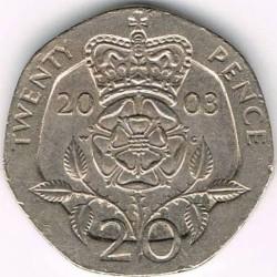 Mynt > 20pence, 1998-2008 - Storbritannia  - reverse