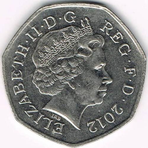 50 Pence 2008 2015 Vereinigtes Königreich Münzen Wert Ucoinnet