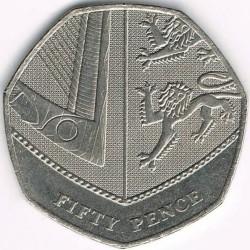 Moneta > 50pensų, 2008-2015 - Jungtinė Karalystė  - reverse