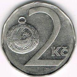 Moneta > 2corone, 1993-2019 - Repubblica Ceca  - reverse