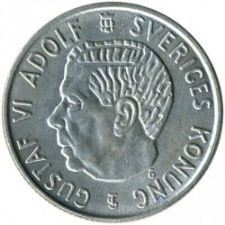 Mynt > 2kronor, 1952-1966 - Sverige  - obverse