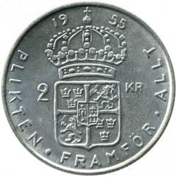 Mynt > 2kronor, 1952-1966 - Sverige  - reverse