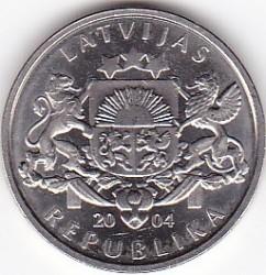 Moneta > 1lats, 2004 - Lettonia  (Fungo) - obverse