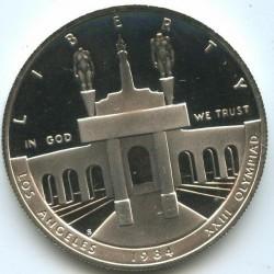 Moneta > 1dollaro, 1984 - USA  (XXIII Giochi olimpici estivi, Los Angeles 1984) - obverse