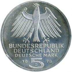 Moneda > 5marcos, 1979 - Alemania  (150º Aniversario - Insituto Arqueológico Alemán) - obverse