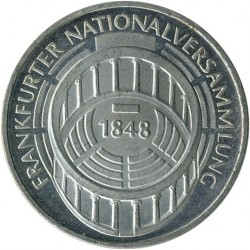 Moneda > 5marcos, 1973 - Alemania  (125º Aniversario - Asamblea Nacional de Frankfurt) - obverse