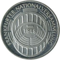 Moneda > 5marcos, 1973 - Alemania  (125º Aniversario - Asamblea Nacional de Frankfurt) - reverse