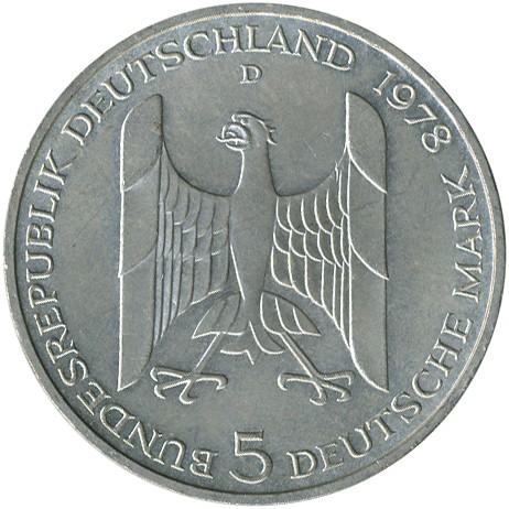 5 Mark 1978 Gustav Stresemann Deutschland Münzen Wert Ucoinnet