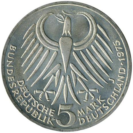 5 Mark 1975 Friedrich Ebert Deutschland Münzen Wert Ucoinnet