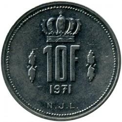 Монета > 10франків, 1971-1980 - Люксембург  - reverse