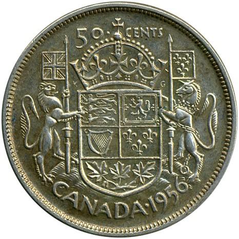 50 Cent 1953 1958 Kanada Münzen Wert Ucoinnet