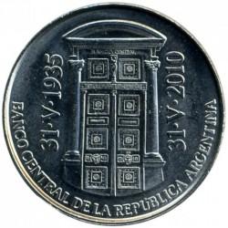 Moneda > 2pesos, 2010 - Argentina  (75 Aniversario - Banco Central de la República Argentina) - obverse