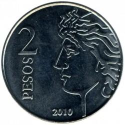 Moneda > 2pesos, 2010 - Argentina  (75 Aniversario - Banco Central de la República Argentina) - reverse