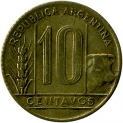 Монета > 10сентаво, 1942-1950 - Аргентина  - obverse