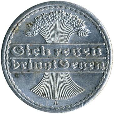 D UNC Lemberg-Zp 50 Pfennig 1922 Germany