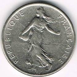 Minca > ½franc, 1965-2001 - Francúzsko  - obverse