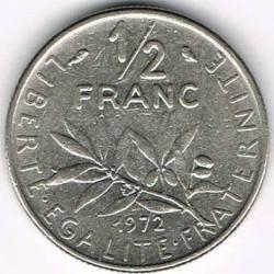Minca > ½franc, 1965-2001 - Francúzsko  - reverse