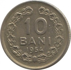 Moneta > 10bani, 1954 - Romania  - reverse