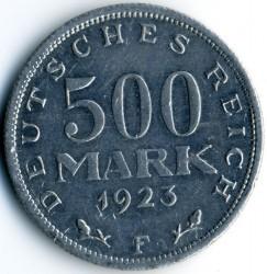Moneda > 500mark, 1923 - Alemanya  - reverse