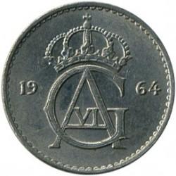 Moneda > 25ore, 1962-1973 - Suecia  - obverse