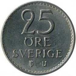 Moneda > 25ore, 1962-1973 - Suecia  - reverse