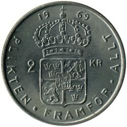 Pièce > 2couronnes, 1968-1971 - Suède  - reverse