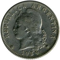 硬币  /> 20分, 1896-1942 - 阿根廷 - obverse