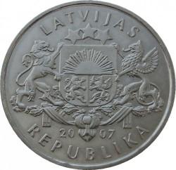 Moneta > 1lats, 2007 - Lettonia  (Owl Fibula) - obverse