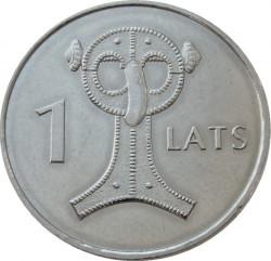 Moneta > 1lats, 2007 - Lettonia  (Owl Fibula) - reverse