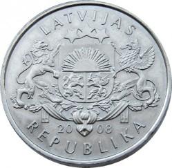 Moneta > 1lats, 2008 - Lettonia  (Waterlily) - obverse