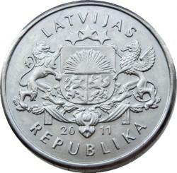 Moneta > 1lats, 2011 - Lettonia  (Beer mug) - obverse