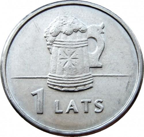 "Latvia 1 lats 2011 /""Beer Mug/"" UNC"