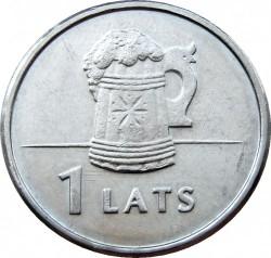 Moneta > 1lats, 2011 - Lettonia  (Beer mug) - reverse