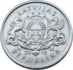 Moneta > 1lats, 2012 - Lettonia  (Riccio) - obverse