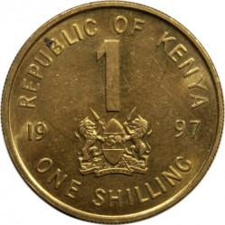 Кованица > 1шилинг, 1995-1998 - Кенија  - obverse