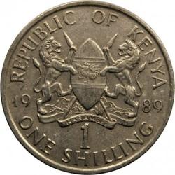 Монета > 1шиллинг, 1978-1989 - Кения  - obverse