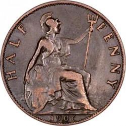Кованица > ½пенија, 1902-1910 - Уједињено Краљевство  - reverse