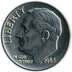 Moneta > 1dime, 1966 - USA  (Dime Roosevelt ) - obverse