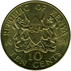 Moneta > 10centów, 1978-1991 - Kenia  - reverse