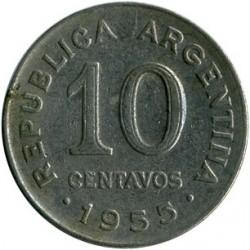 Монета > 10сентавос, 1954-1956 - Аржентина  - reverse