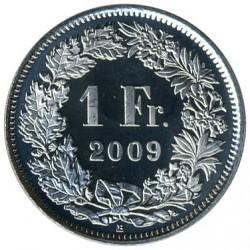 Moneta > 1frank, 1968-2019 - Szwajcaria  - reverse