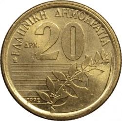 錢幣 > 20德拉克馬, 1990-2000 - 希臘  - obverse