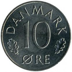 Moneda > 10ore, 1984 - Dinamarca  - reverse
