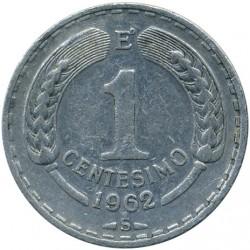 Minca > 1centésimo, 1960-1963 - Čile  - reverse