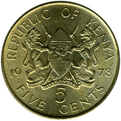 5 Cent 1969 1978 Kenia Münzen Wert Ucoinnet