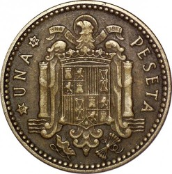Coin > 1 peseta, 1946-1963 - Spain  - obverse