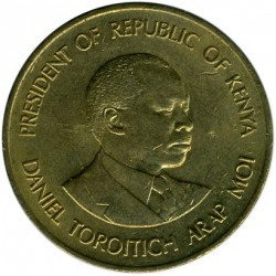 Coin > 5cents, 1978-1991 - Kenya  - obverse