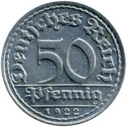 Moneda > 50peniques, 1919-1922 - Alemania  - reverse