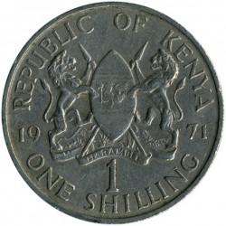 Coin > 1shilling, 1971 - Kenya  - obverse